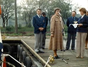 Chrzest jachtu, rok 1979. Fot. Bogdan Manikowski